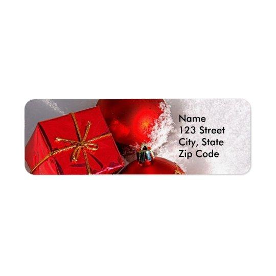Etiquetas de endereço do remetente do Natal ou Tag Etiqueta Endereço De Retorno