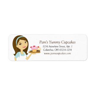 Etiquetas de endereço do remetente do padeiro do c etiqueta endereço de retorno