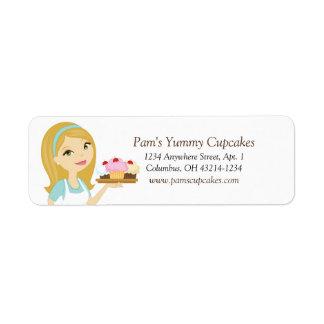 Etiquetas de endereço do remetente do padeiro do etiqueta endereço de retorno