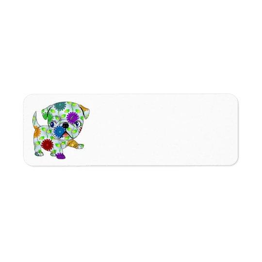 Etiquetas de endereço do remetente do Pug