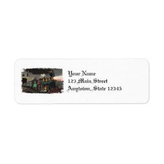 Etiquetas de endereço do remetente do trem etiqueta endereço de retorno