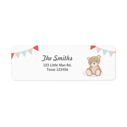 Etiquetas de endereço do remetente do urso de etiqueta endereço de retorno
