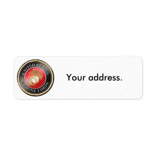 Etiquetas de endereço do remetente do USMC