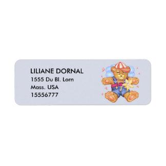 Etiquetas de endereço do remetente dos DESENHOS