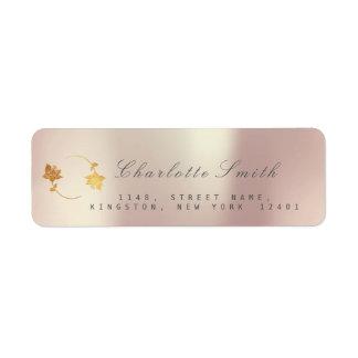 Etiquetas de endereço do remetente douradas da