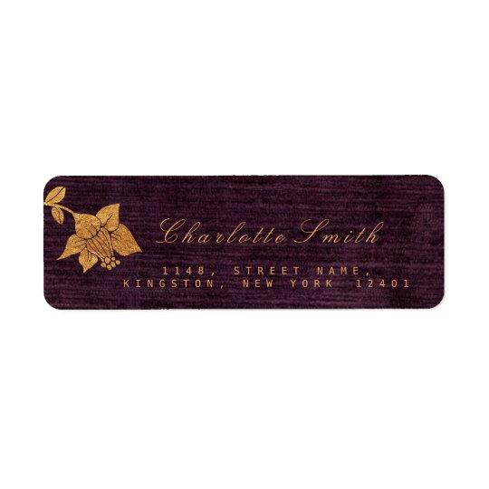 Etiquetas de endereço do remetente douradas da etiqueta endereço de retorno
