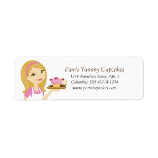 Etiquetas de endereço do remetente etiqueta endereço de retorno