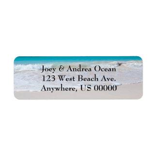 Etiquetas de endereço do remetente feitas sob enco