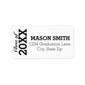 Etiquetas de endereço do remetente feitas sob etiqueta de endereço
