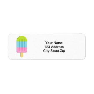 Etiquetas de endereço do remetente feitas sob etiqueta endereço de retorno