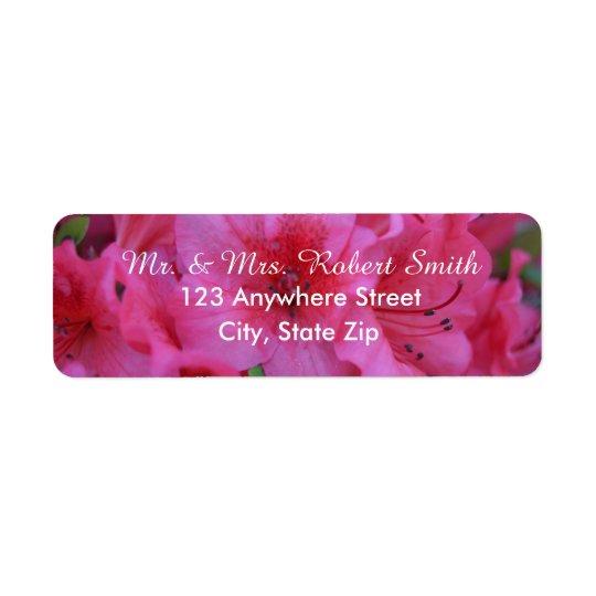 Etiquetas de endereço do remetente florais etiqueta endereço de retorno