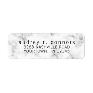Etiquetas de endereço do remetente - mármore preto