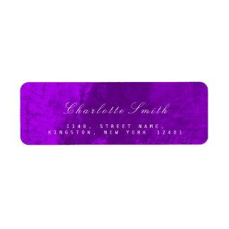 Etiquetas de endereço do remetente metálicas roxas