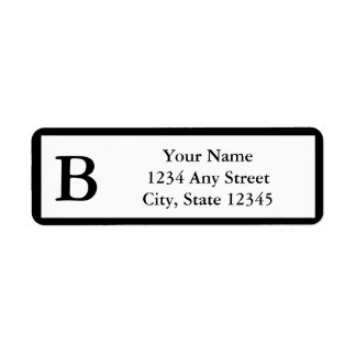 Etiquetas de endereço do remetente Monogrammed Etiqueta Endereço De Retorno
