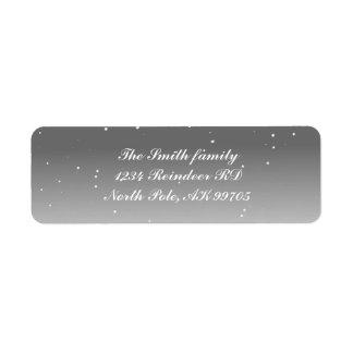 Etiquetas de endereço do remetente nevado etiqueta endereço de retorno