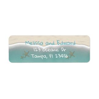 Etiquetas de endereço do remetente oceânicos da