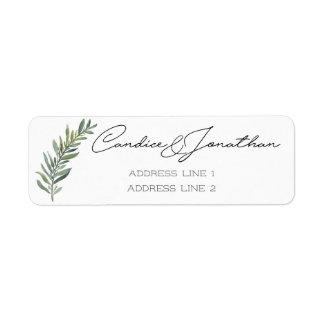Etiquetas de endereço do remetente para Candice