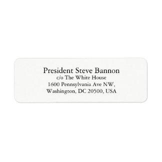 Etiquetas de endereço do remetente para Steve