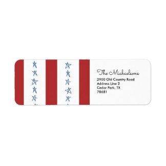 Etiquetas de endereço do remetente patrióticas