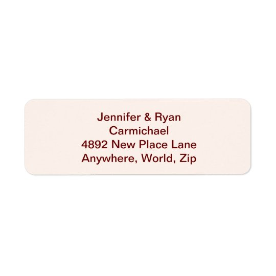 Etiquetas de endereço do remetente personalizadas etiqueta endereço de retorno