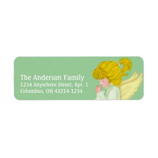 Etiquetas de endereço do remetente Praying do anjo