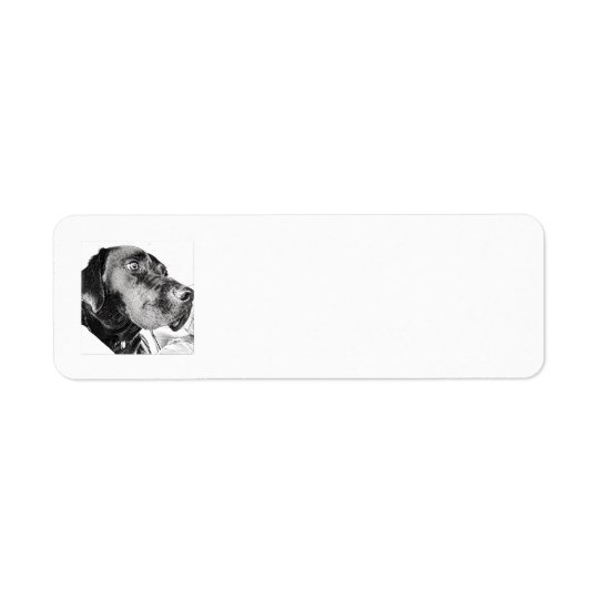 Etiquetas de endereço do remetente pretas do etiqueta endereço de retorno