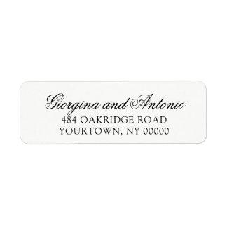 Etiquetas de endereço do remetente que Wedding