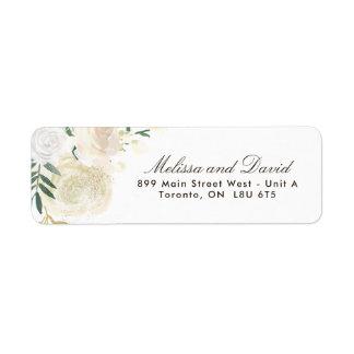 Etiquetas de endereço do remetente românticas da