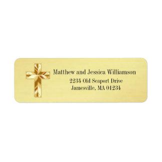 Etiquetas de endereço do remetente transversais etiqueta endereço de retorno