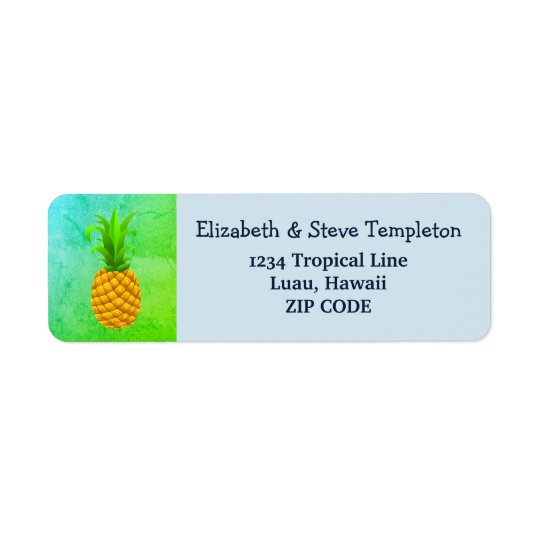 Etiquetas de endereço do remetente tropicais do
