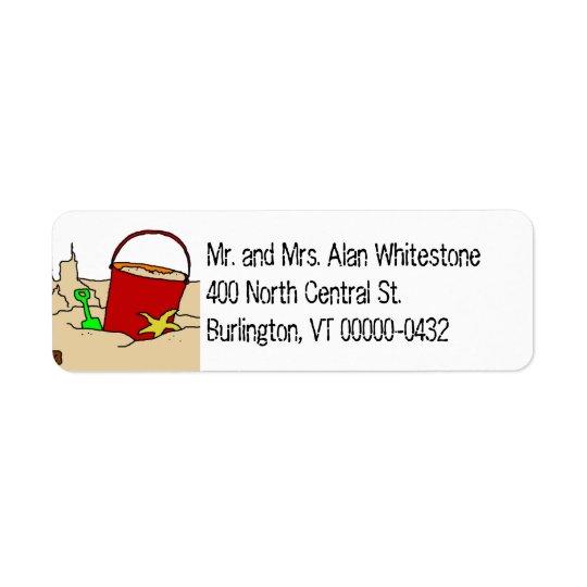 Etiquetas de endereço do remetente tropicais do etiqueta endereço de retorno