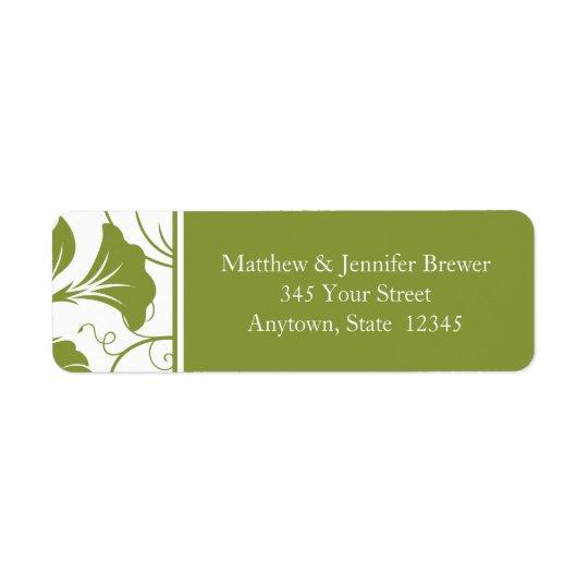 Etiquetas de endereço do remetente verdes do etiqueta endereço de retorno
