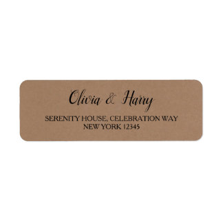 Etiquetas de endereço do remetente Wedding
