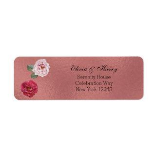 Etiquetas de endereço do remetente Wedding dos