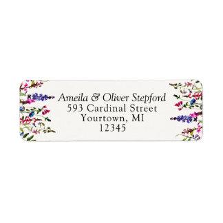 Etiquetas de endereço do remetente - Wildflowers Etiqueta Endereço De Retorno
