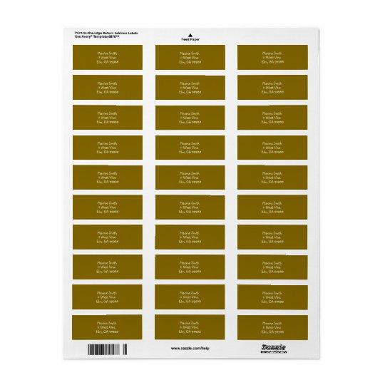 Etiquetas de endereço douradas do olmo etiqueta endereço de retorno