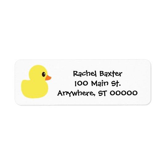 """Etiquetas de endereço """"Ducky"""" de borracha"""