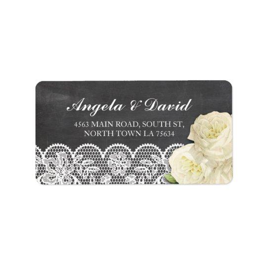 Etiquetas de endereço elegantes rústicas florais etiqueta de endereço