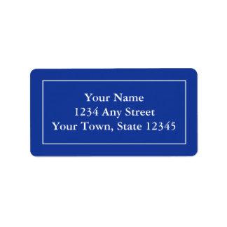 Etiquetas de endereço feitas sob encomenda - azuis etiqueta de endereço