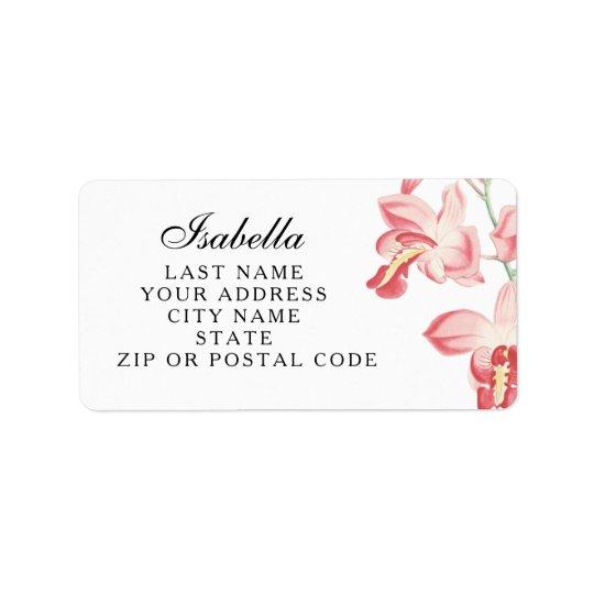 Etiquetas de endereço florais do casamento da