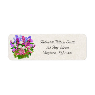 Etiquetas de endereço florais inglesas do jardim etiqueta endereço de retorno