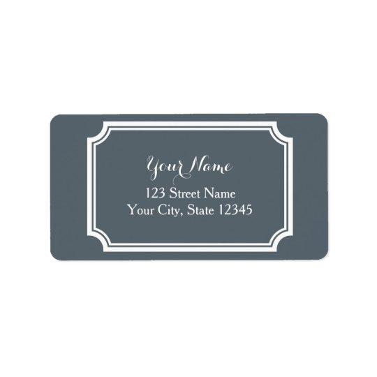 Etiquetas de endereço impressas costume com beira etiqueta de endereço
