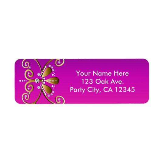Etiquetas de endereço indianas da princesa festa