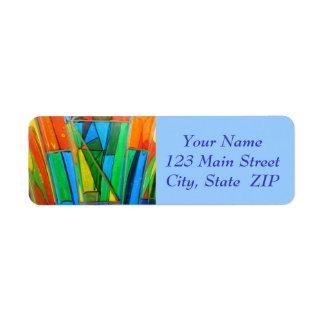 Etiquetas de endereço--Laranja de vidro de Murano