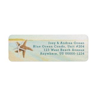 Etiquetas de endereço litorais da estrela do mar