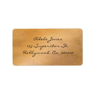Etiquetas de endereço metálicas de cobre