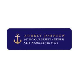Etiquetas de endereço náuticas etiqueta endereço de retorno