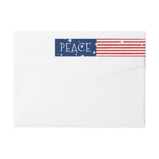 Etiquetas de endereço patrióticas do feriado do