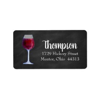 Etiquetas de endereço personalizadas vinho do