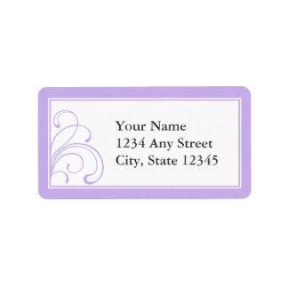 Etiquetas de endereço Pre-Impressas costume roxas Etiqueta De Endereço